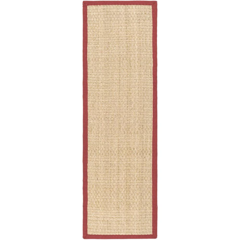safavieh natural fiber beige red 3 ft x 8 ft runner rug nf114d 28 the home depot. Black Bedroom Furniture Sets. Home Design Ideas