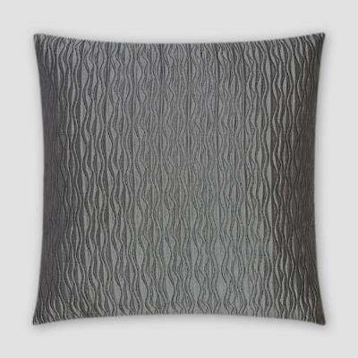 Valencia Pewter Feather Down 18 in. x 18 in. Standard Decorative Throw Pillow