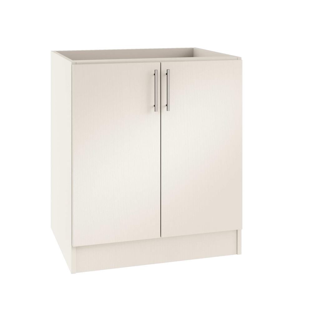 Assembled 24x34.5x24 in. Miami Open Back Outdoor Kitchen Base Cabinet with