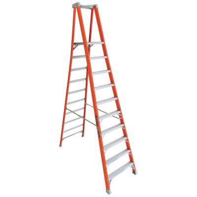 10 ft. Fiberglass Pinnacle Platform Ladder with 300 lbs. Load Capacity Type IA Duty Rating