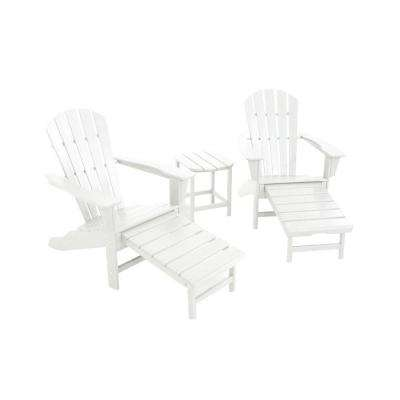 South Beach Ultimate White 3-Piece Patio Adirondack Set