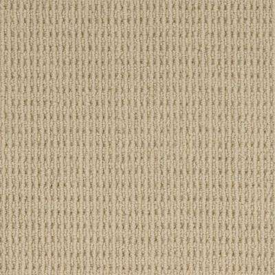 Carpet Sample - Savanna Square - Color Eggshell Loop 8 in. x 8 in.