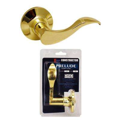 Polished Brass Prelude Dummy Lever Right-Handed