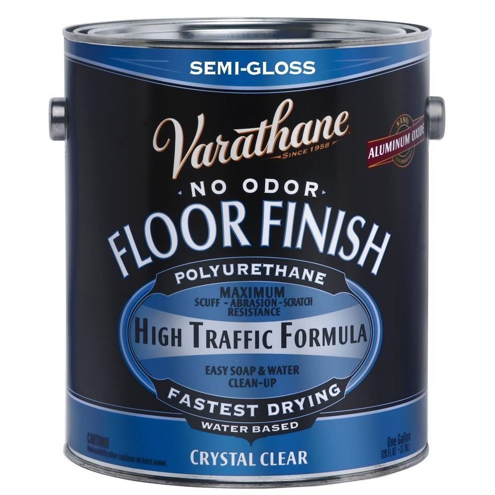 Varathane 1 gal. Clear Semi-Gloss Water-Based Floor Polyurethane (2-Pack)