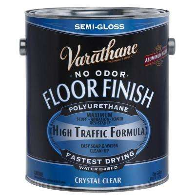 1 gal. Clear Semi-Gloss Water-Based Floor Polyurethane (2-Pack)