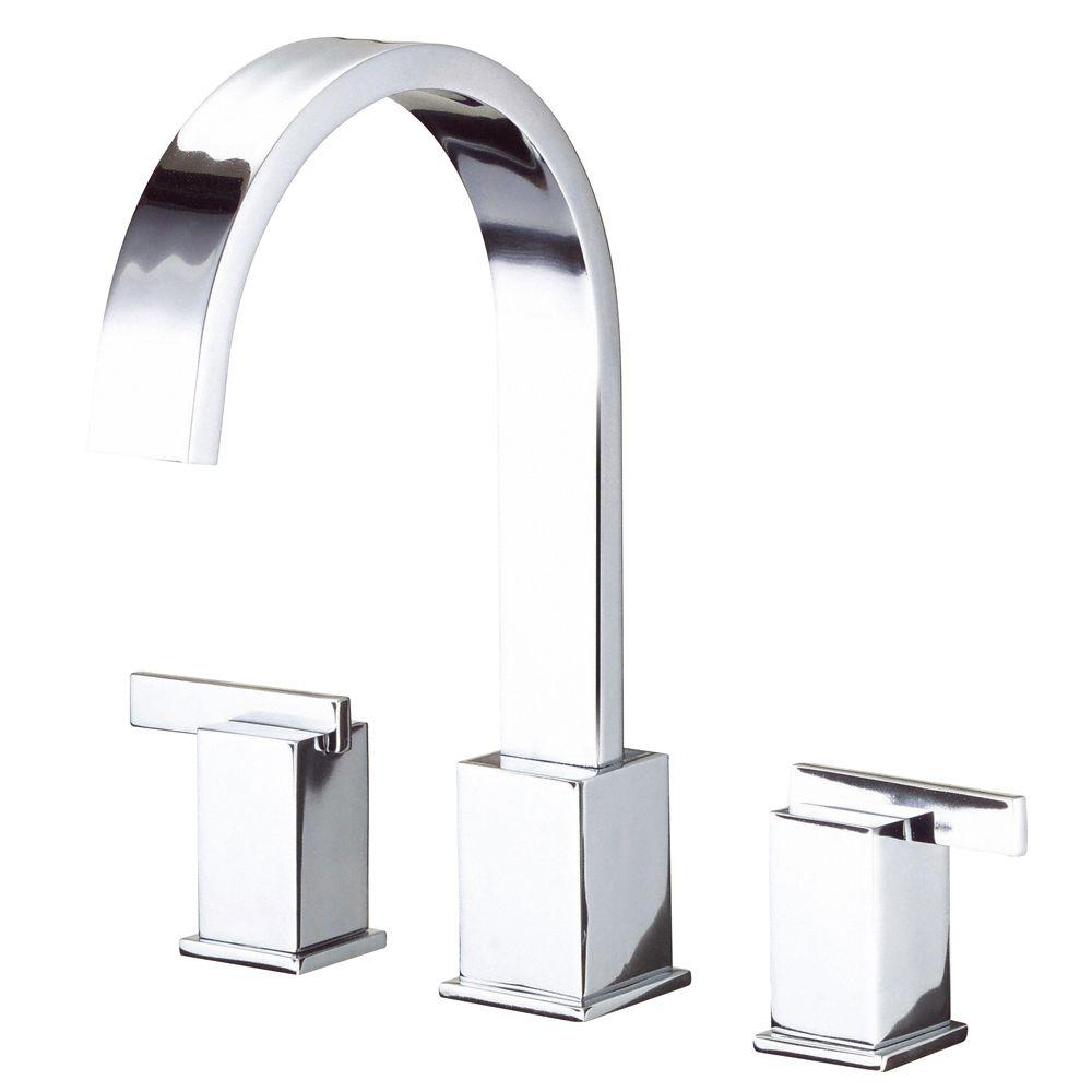 Danze Sirius 2-Handle Top-Mount Roman Tub Faucet in Chrome (Valve Not Included)