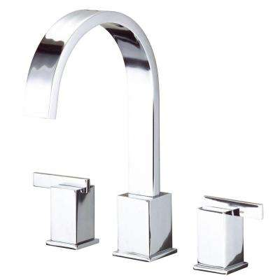 Sirius 2-Handle Top-Mount Roman Tub Faucet in Chrome (Valve Not Included)