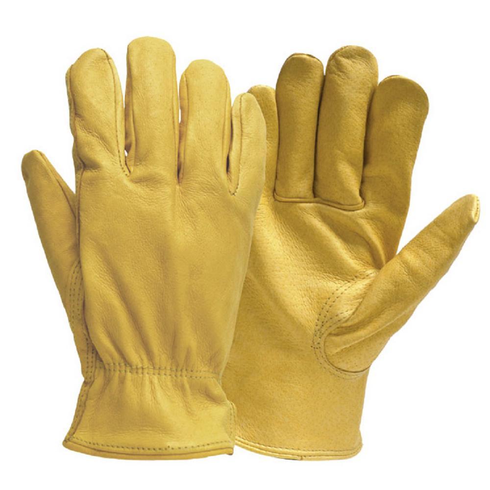 Firm Grip Pro Full Grain Deerskin Gloves in Large by