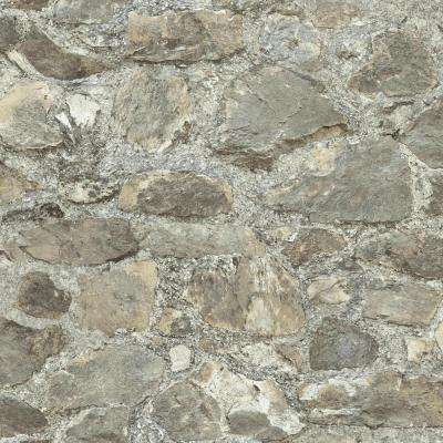 28.18 sq. ft. Stone Peel and Stick Wallpaper
