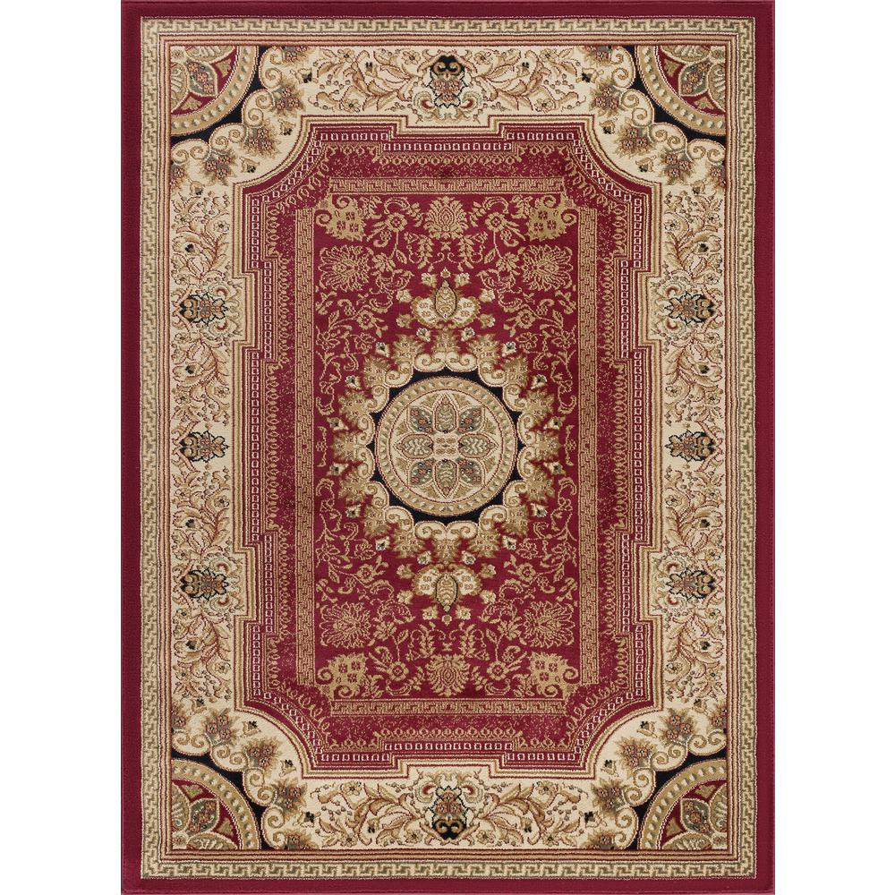 tayse rugs sensation red 11 ft x 15 ft traditional area rug sns4670 11x15 the home depot. Black Bedroom Furniture Sets. Home Design Ideas