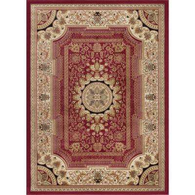 Sensation Red 11 ft. x 15 ft. Traditional Area Rug