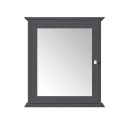 Sonoma 24 in. x 27 in. Surface Mount Medicine Cabinet in Dark Charcoal