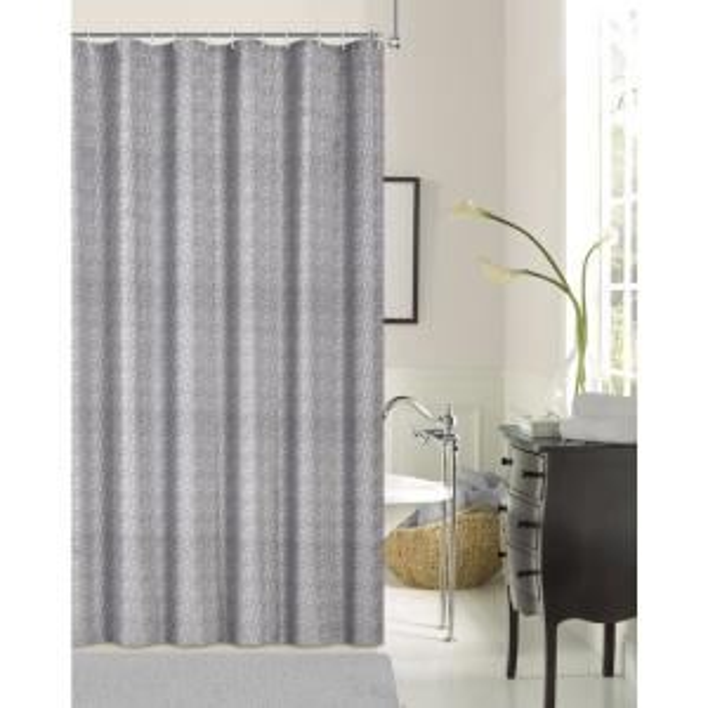 Kingston Silver 70 inch Shrink Yarn Shower Curtain by