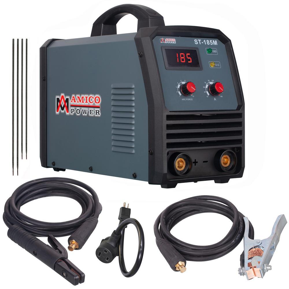 Amico 185 Amp Stick/ARC/Lift-Tig 2-in-1 DC Inverter Welder 115/230-Volt Dual Voltage Welding Machine New