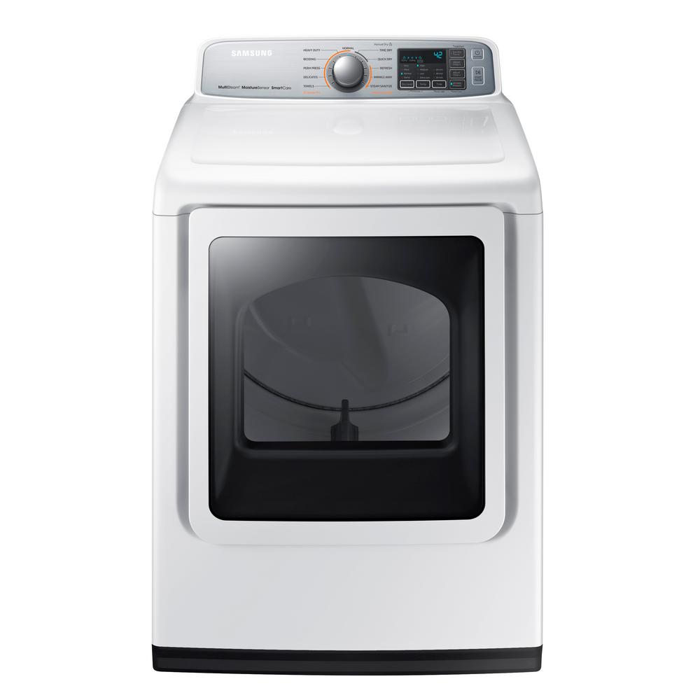 Electric Dryer With Steam In White