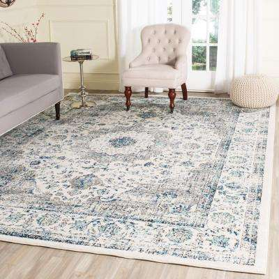 Evoke Gray/Ivory 9 ft. x 12 ft. Area Rug