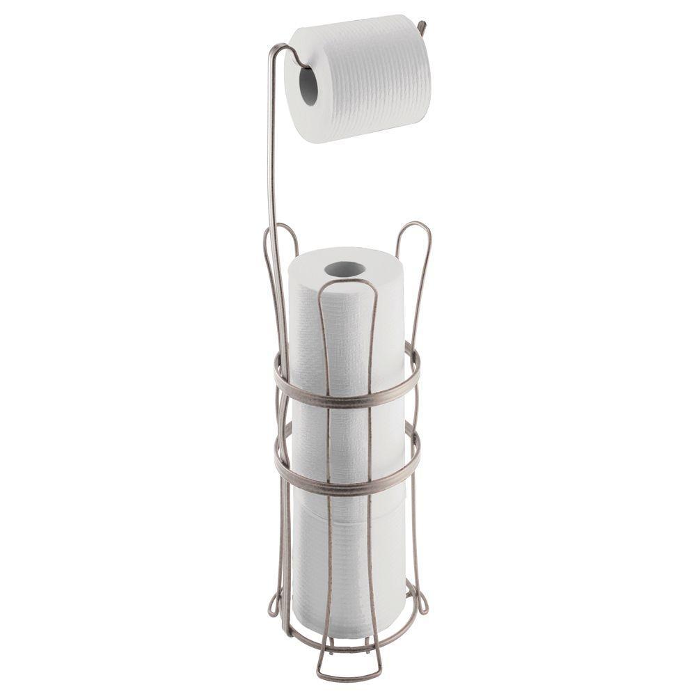 Interdesign York Lyra Roll Reserve Plus Toilet Paper Holder In Satin