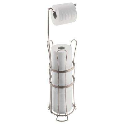 York Lyra Roll Reserve Plus Toilet Paper Holder in Satin