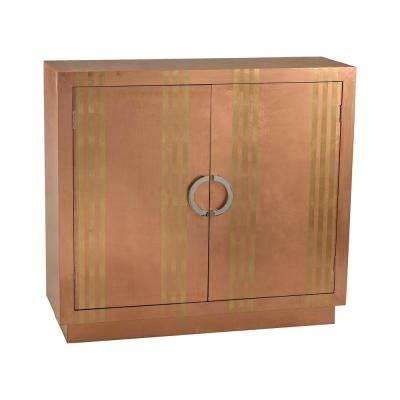 Copper and Gold Stripe Cabinet