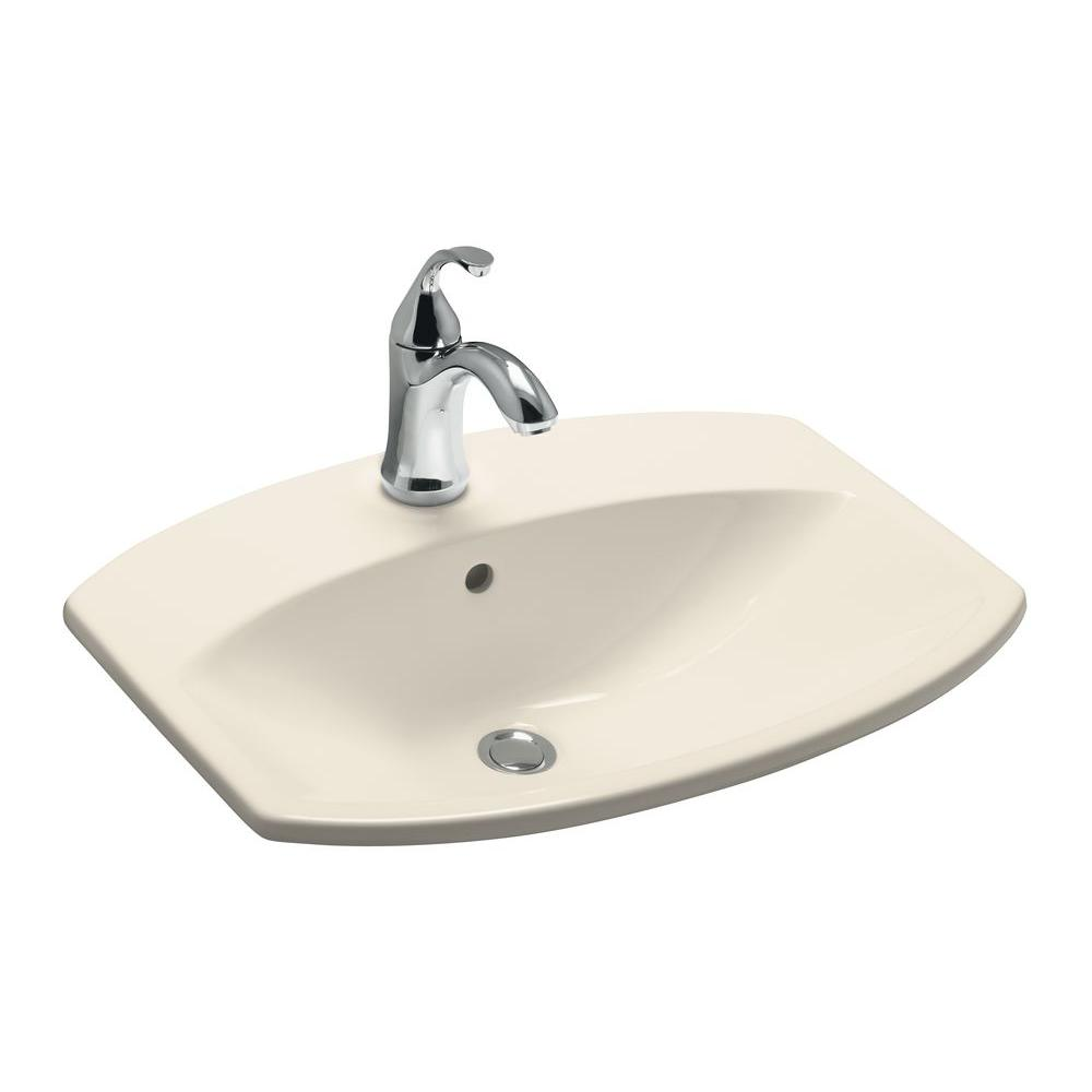 Kohler cimarron drop in vitreous china bathroom sink in - Decorating with almond bathroom fixtures ...