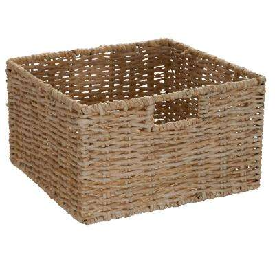 15.75 in. W x 13 in. D 4-Basket Whitewash Storage Tower