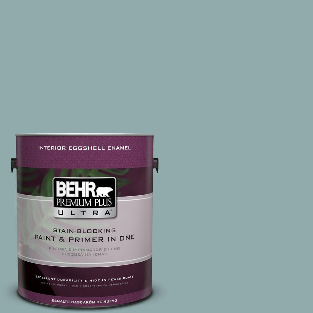 BEHR Premium Plus Ultra Home Decorators Collection 1-gal. #HDC-CL-25 Oceanus Eggshell Enamel Interior Paint