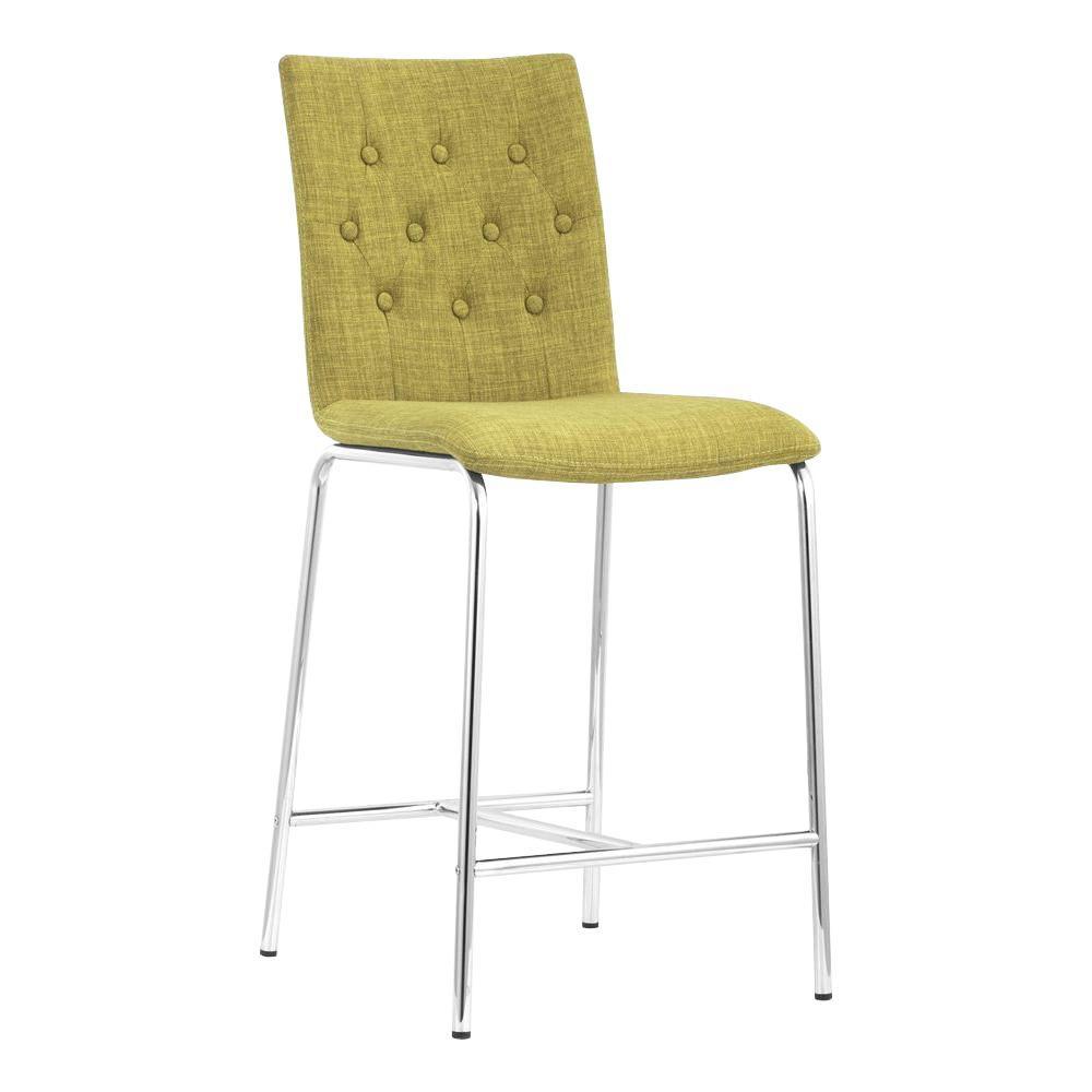ZUO Uppsala Pea Fabric Counter Chair (Set of 2)