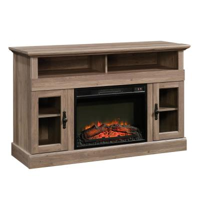 Barrister Lane 51 in. Salt Oak Particle Board TV Stand Fits TVs Up to 60 in. with Electric Fireplace