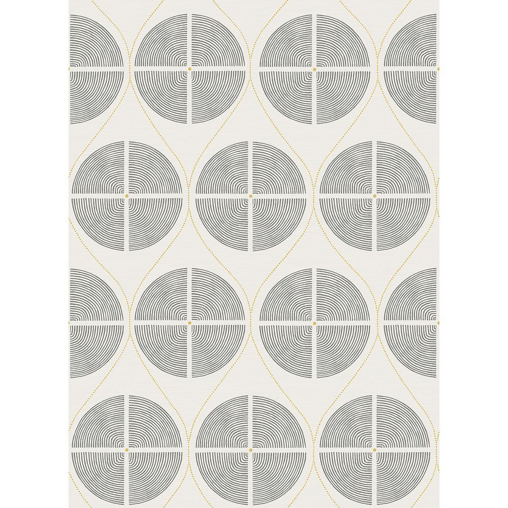 A-Street 56.4 sq. ft. Luminary Grey Ogee Wallpaper 2901-25425