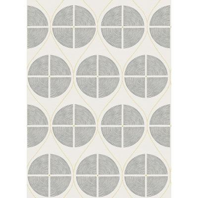 8 in. x 10 in. Luminary Grey Ogee Wallpaper Sample