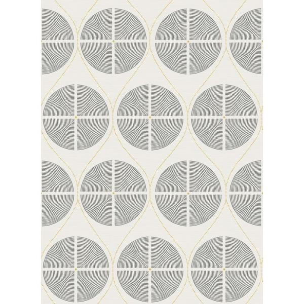 A-Street 8 in. x 10 in. Luminary Grey Ogee Wallpaper Sample