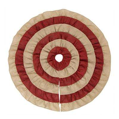48 in. D Christmas Faux Burlap Tree Skirt