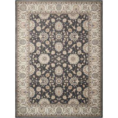 Persian Crown Charcoal/Ivory 9 ft. x 13 ft. Area Rug
