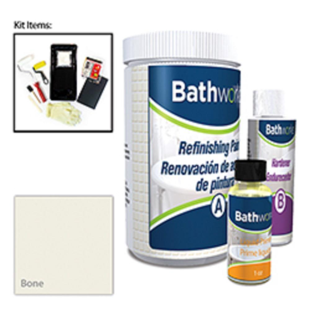 BATHWORKS 20 Oz. DIY Bathtub Refinishing Kit- Bone-BWK-03