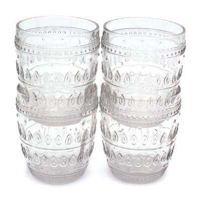 Fez 4-Piece 12oz. Clear Old Fashion Glass Set