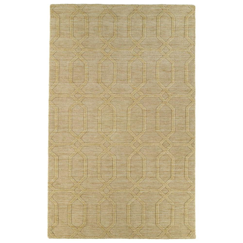 Kaleen Imprints Modern Yellow 3 ft. 6 in. x 5 ft. 6 in. Area Rug