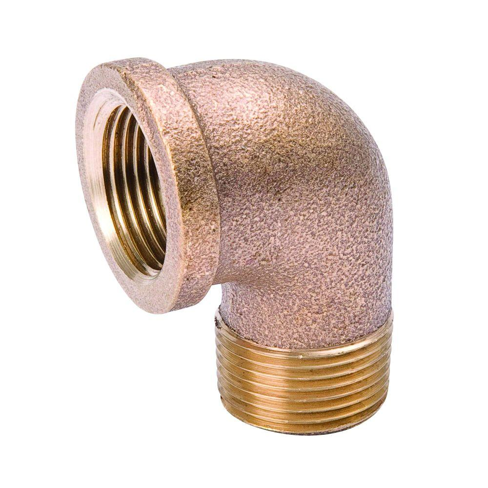 Mueller Streamline 3/4 in. Brass 90-Degree FPT x MPT Threaded Street Elbow