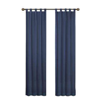Montana Window Curtain Panel Pair in Indigo - 60 in. W x 63 in. L