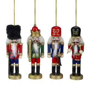 5.25 in. Assorted Classic Nutcracker Ornaments (Set of 4)