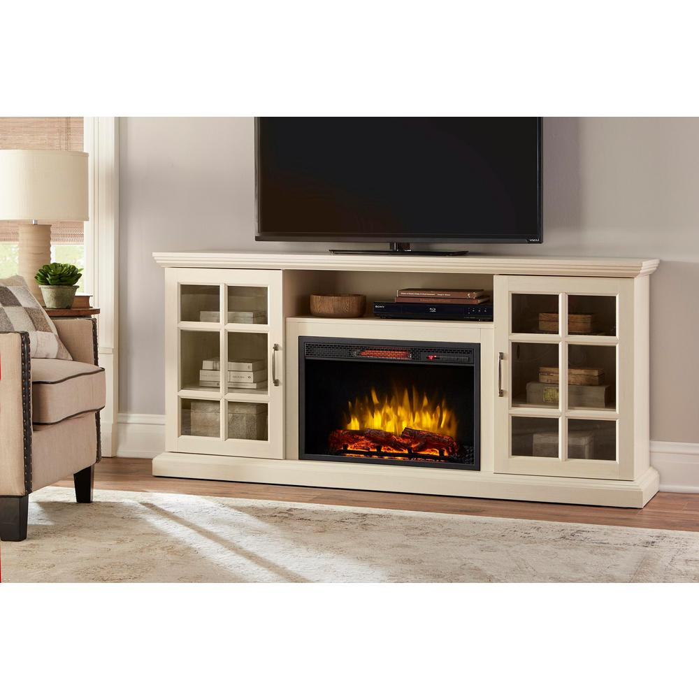 70 Inch Freestanding Infrared Electric Fireplace Heater Tv