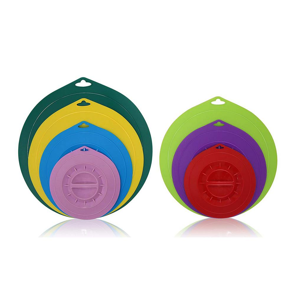 E Lite Colored Round Silicone Suction (7-Piece)