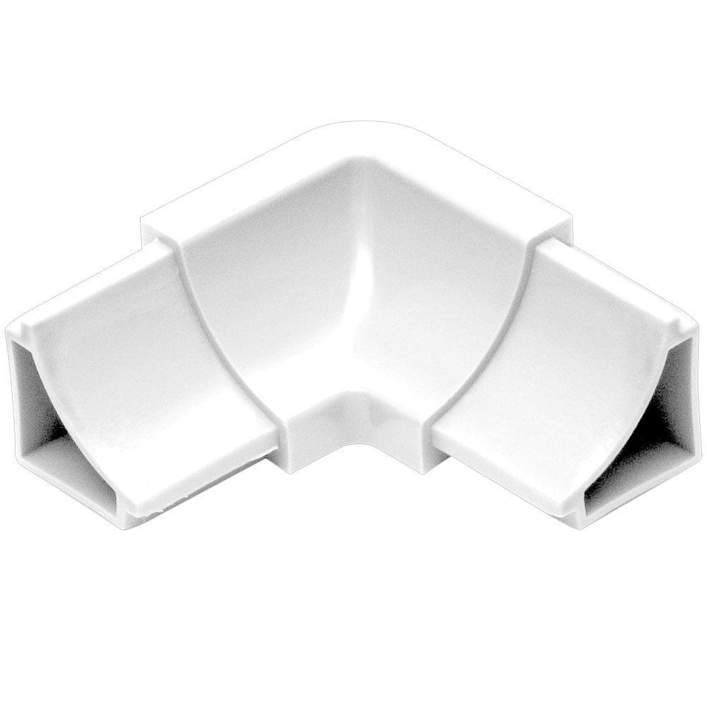 Dilex-HKW Bright White 1 in. x 2 in. PVC 2-Way Inside Corner