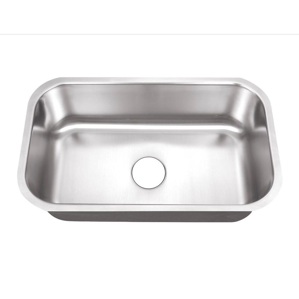 Belle Foret Undermount Stainless Steel 30 In 0 Hole Single Bowl Kitchen Sink