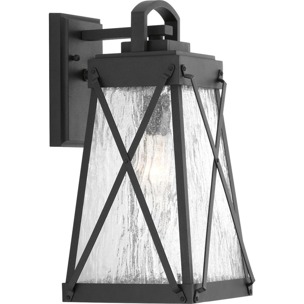Progress Lighting Creighton Collection 1-Light Black Outdoor Wall ...