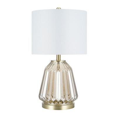 23.5 in. Champagne Table Lamp and LED Bulb