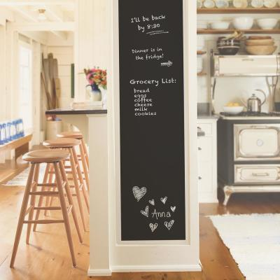 30.8 sq. ft. Black Vintage Chalkboard Peel and Stick Wallpaper