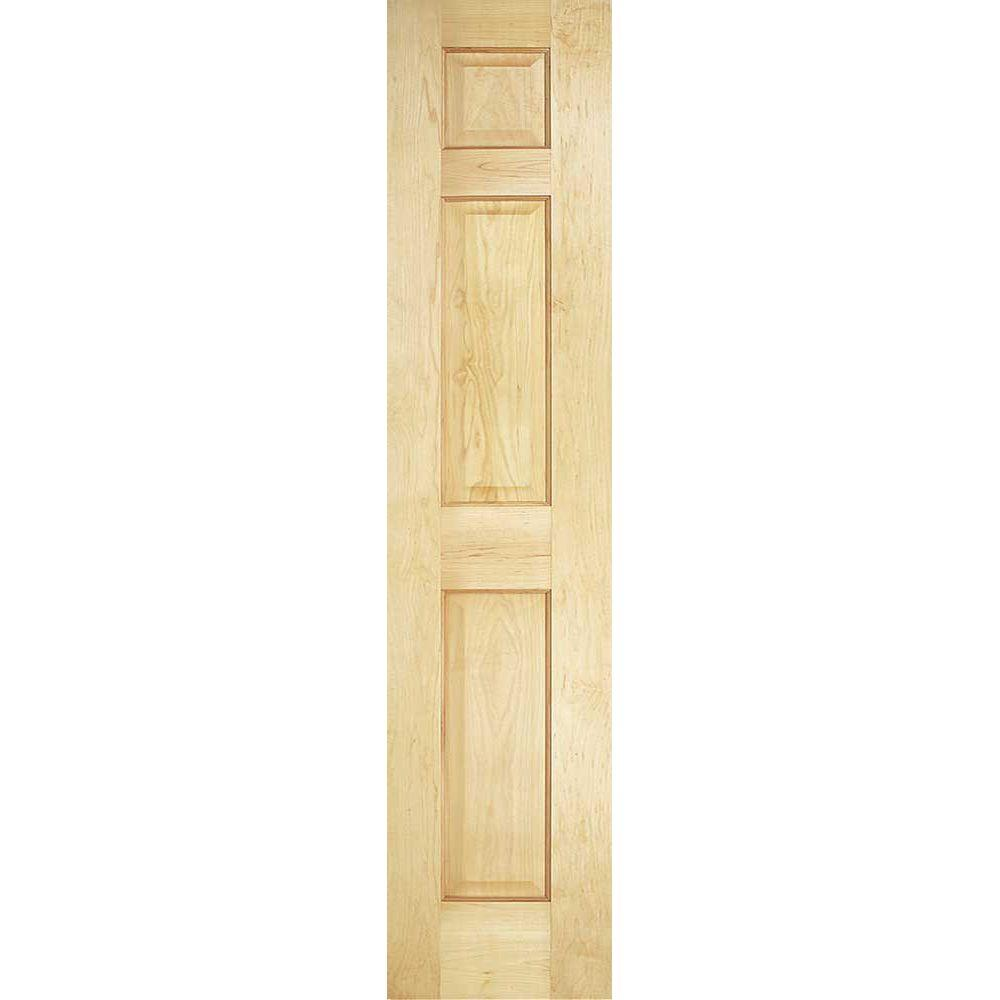 Masonite 18 In X 80 In Smooth 6 Panel Solid Core Unfinished Pine Interior Door Slab 12673