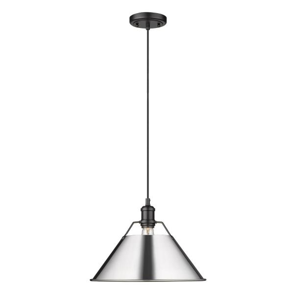 Orwell 1-Light Matte Black Standard Pendant