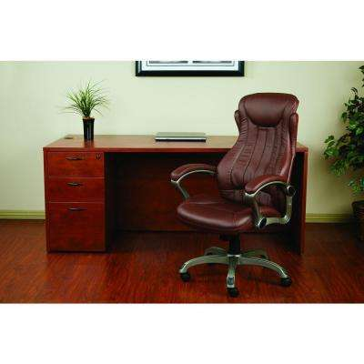 Wine Eco Leather Executive Manager Office Chair