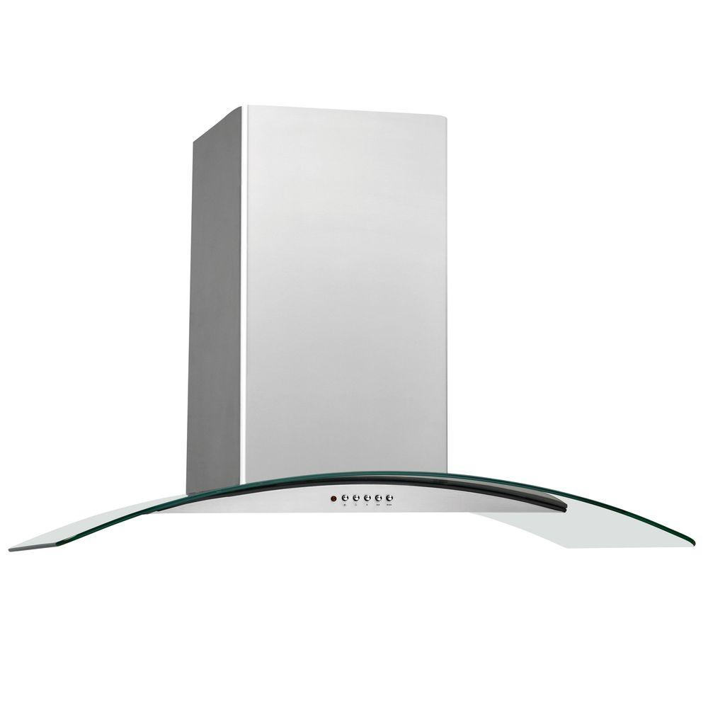 Convertible Glass Canopy Island Range Hood in Stainless Steel-FHPC4260LS - The Home Depot  sc 1 st  The Home Depot & Frigidaire 42 in. Convertible Glass Canopy Island Range Hood in ...